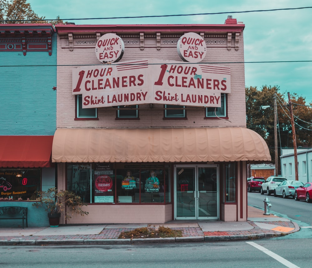 closed laundry shop
