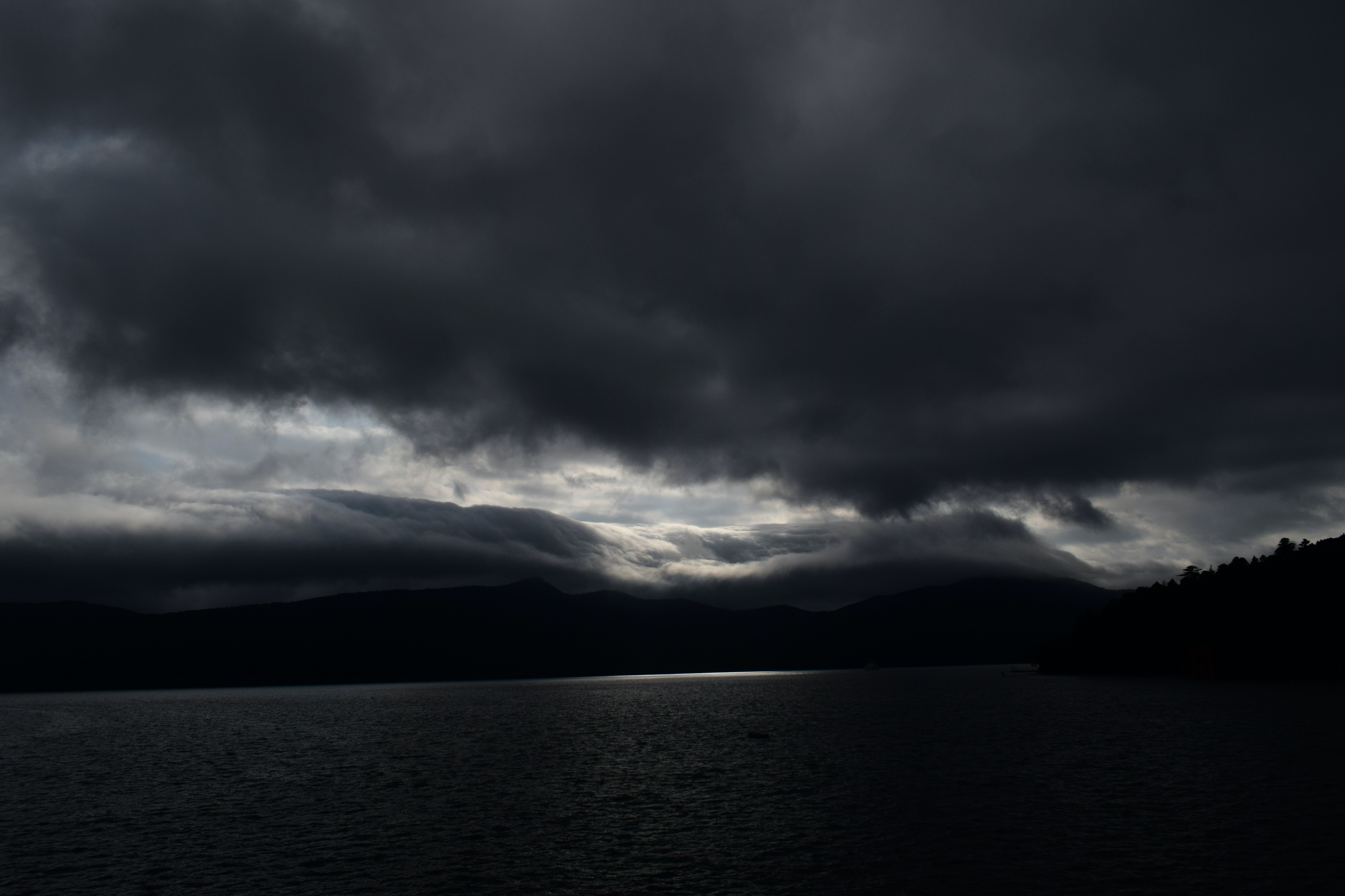 gray clouds over body of water during daytime