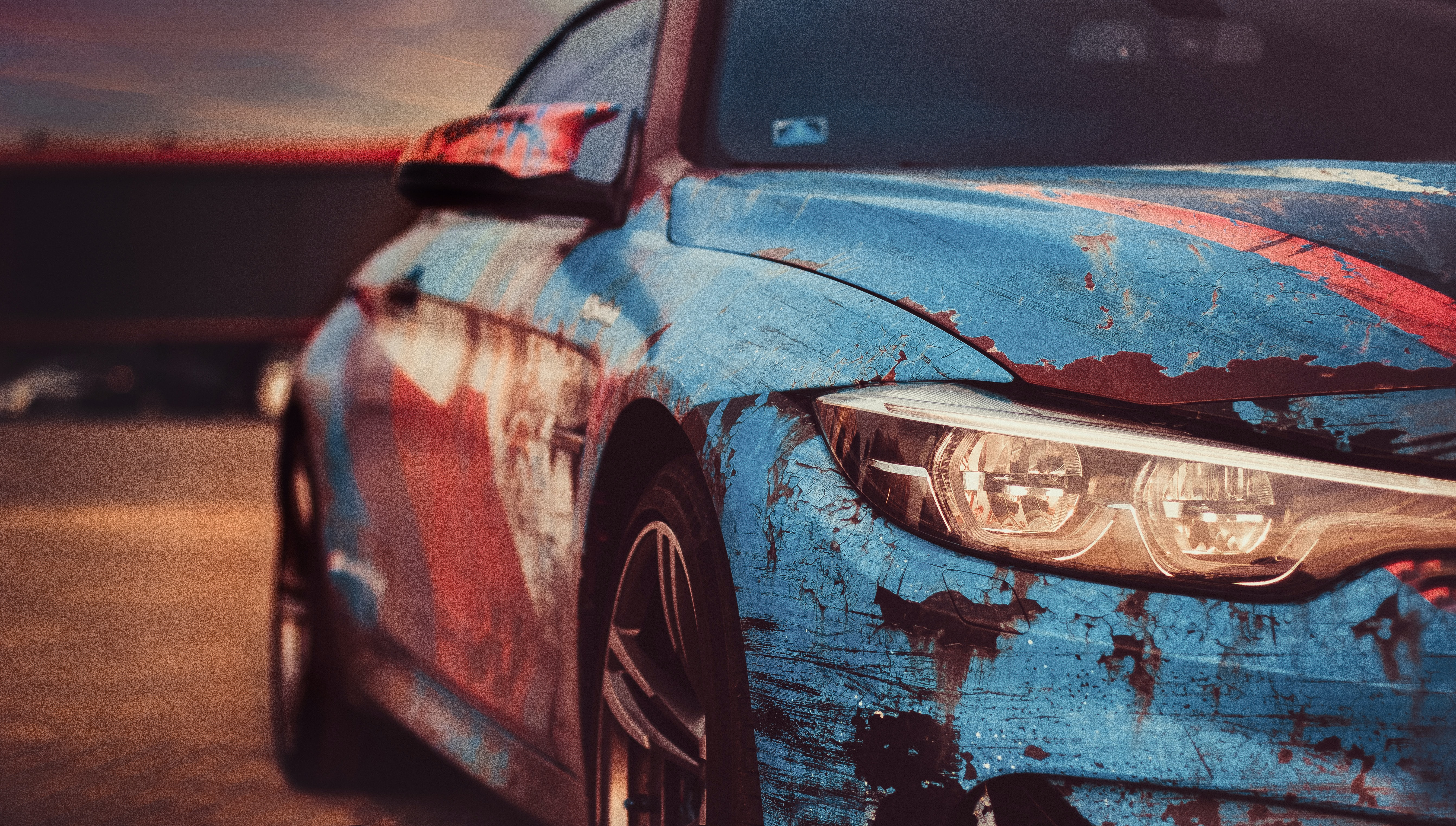 selective focus photography of BMW S Series car