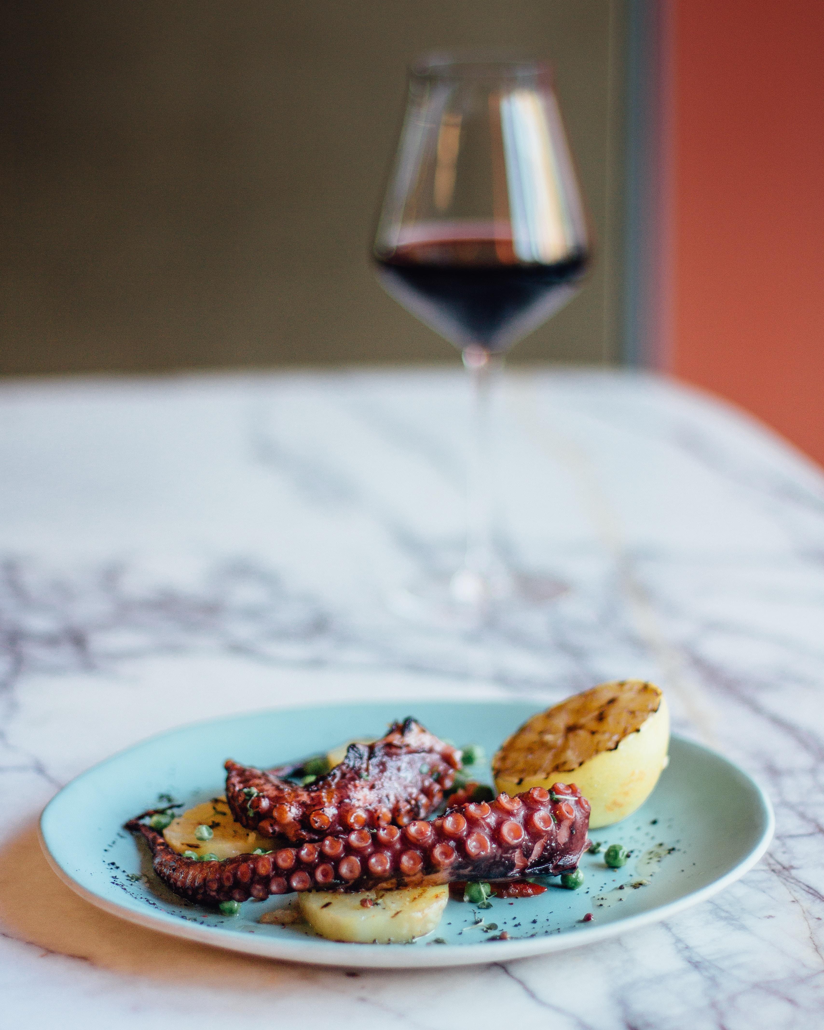 octopus dish with potato