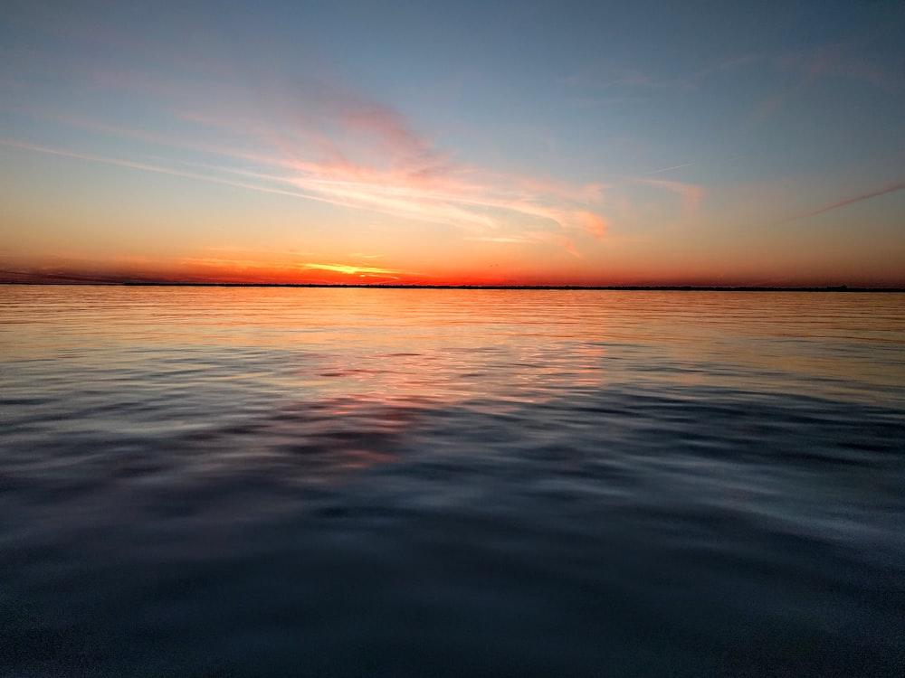 landscape photography of sea