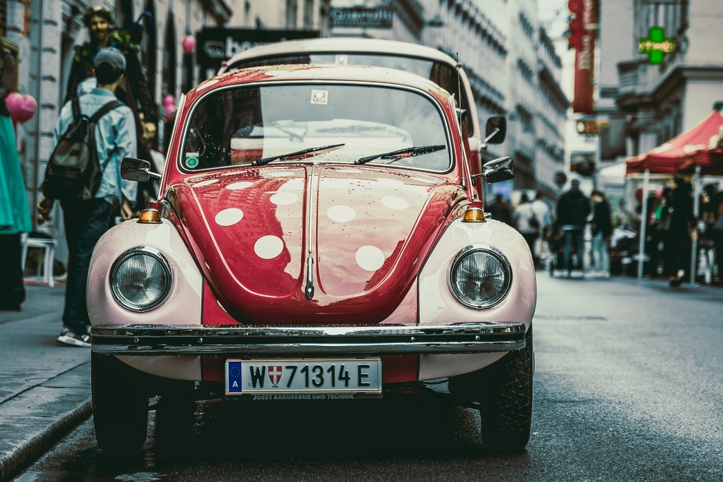 Old timers parade classic car-Vienna.