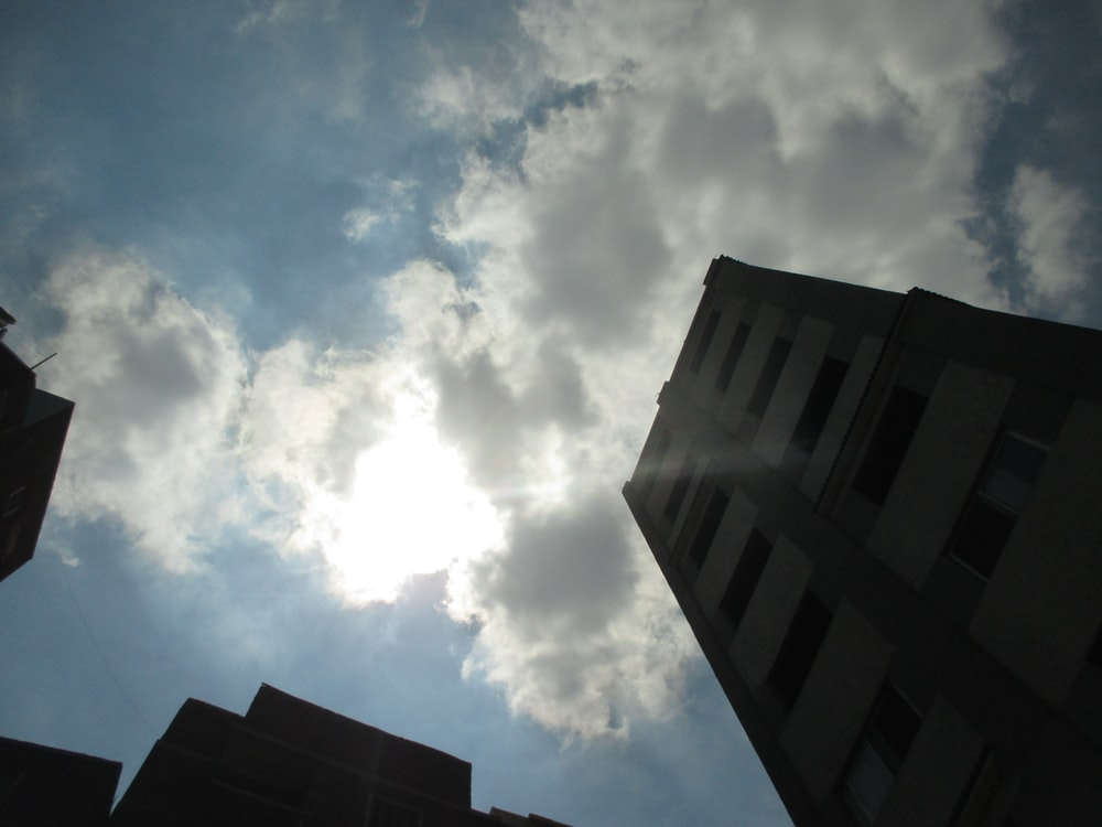 low angle view photography of high-rise building