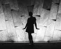 silhouette of woman about to dance