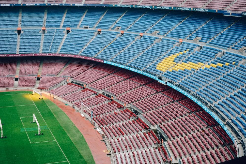 aerial photography of football stadium