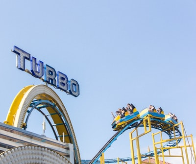 turbo carnival ride rollercoaster teams background