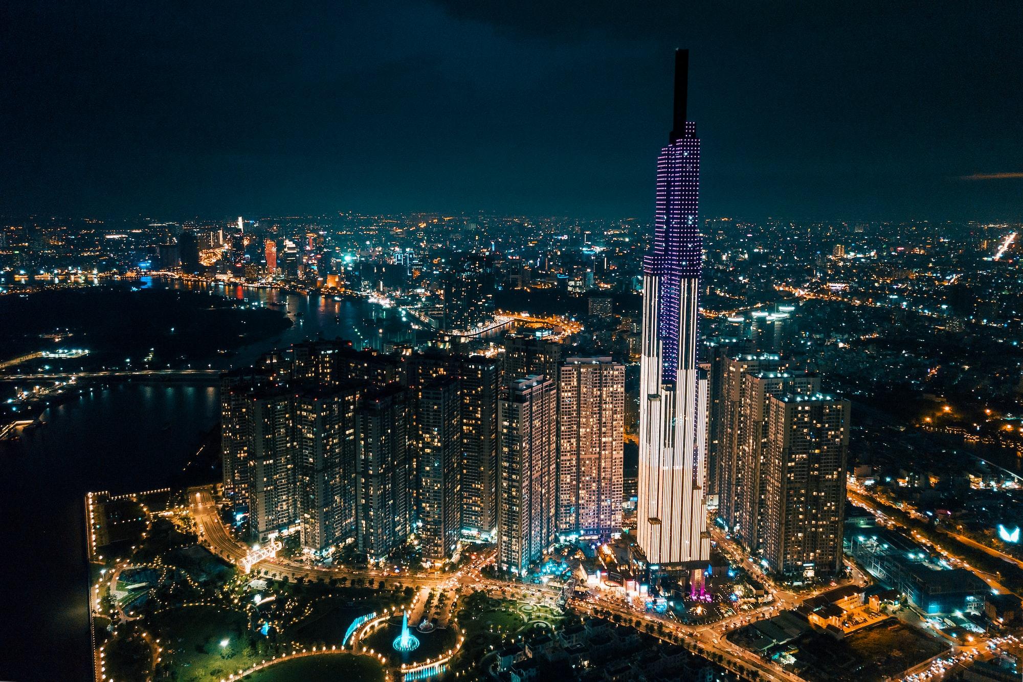 Landmark 81 by night