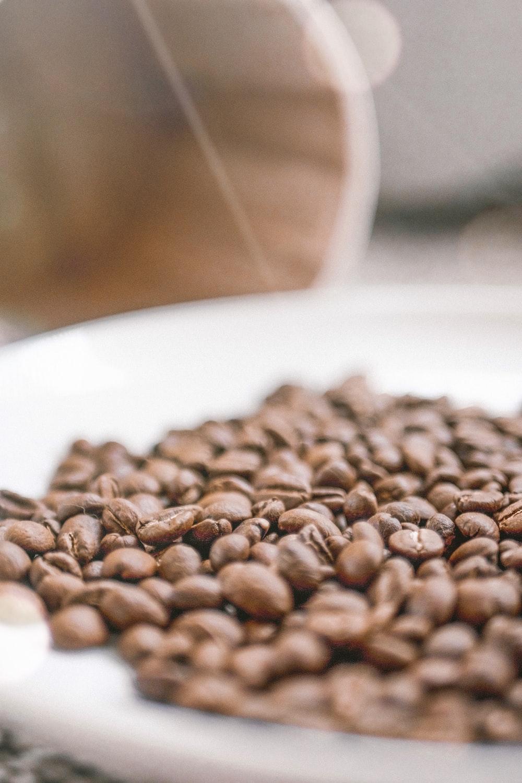 plate of coffee beas