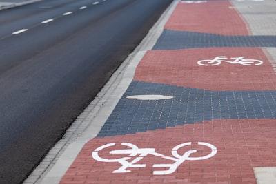 bike lane road warning sign
