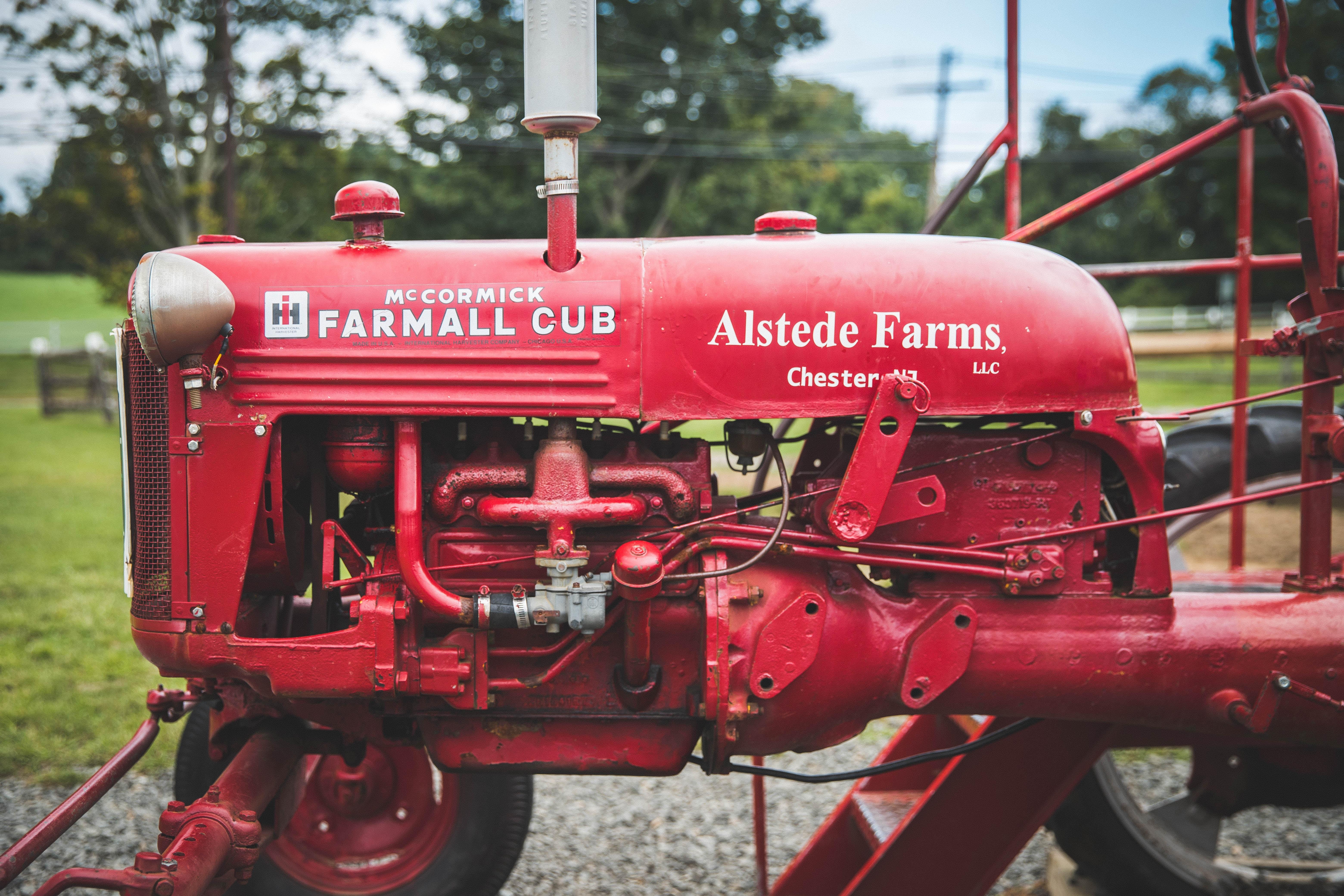 red Farmall Cub tractor
