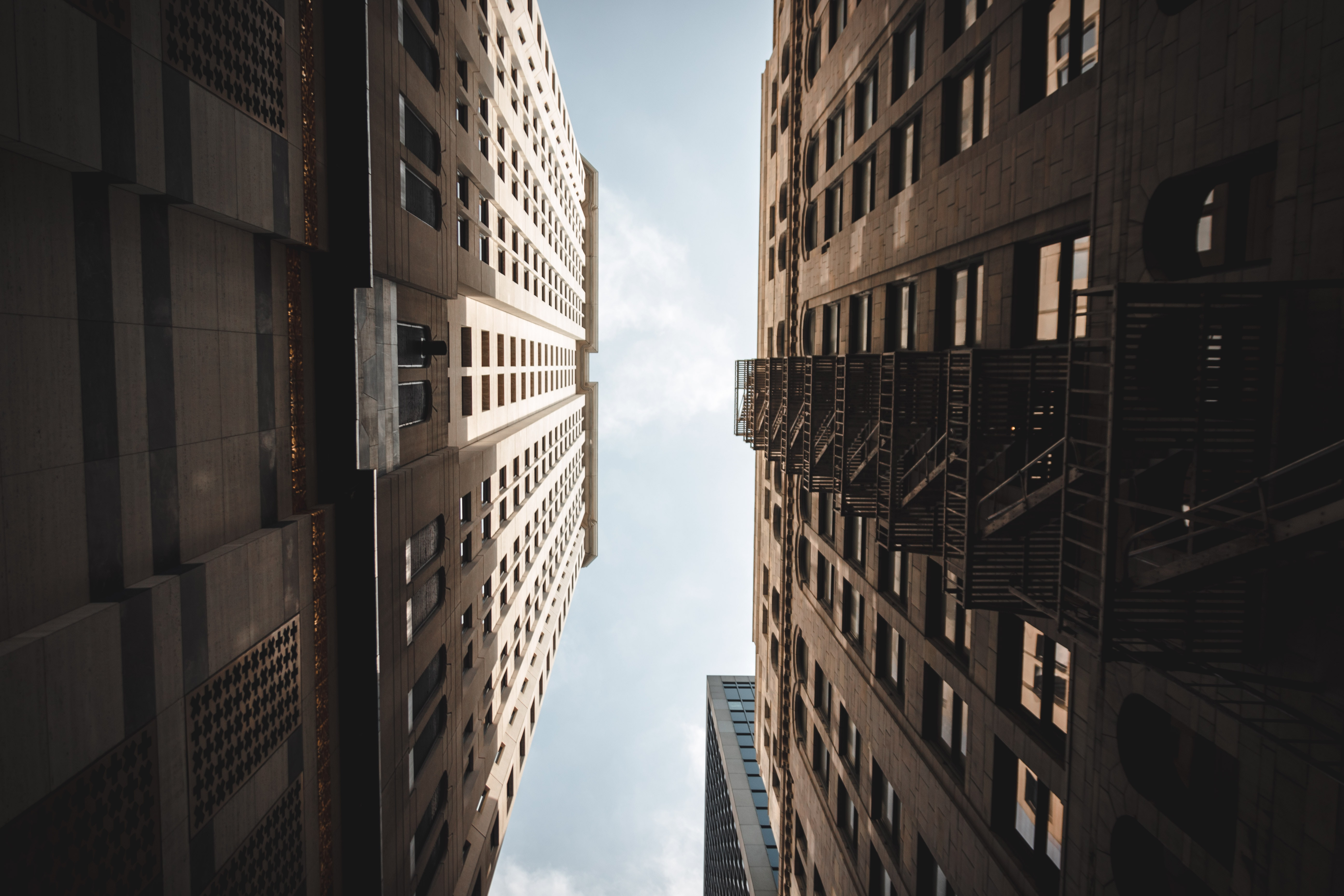 architectural photography of two high-rise buildings