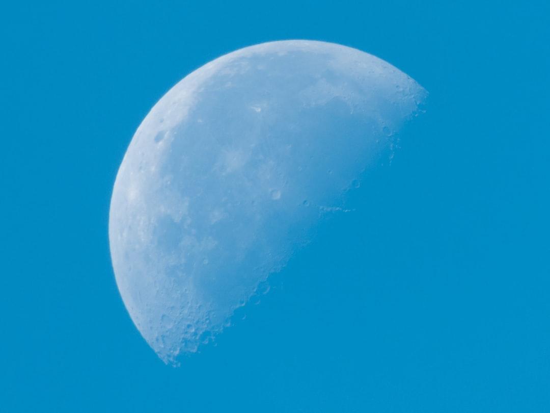 Gibbous Moon Shot In Daylight
