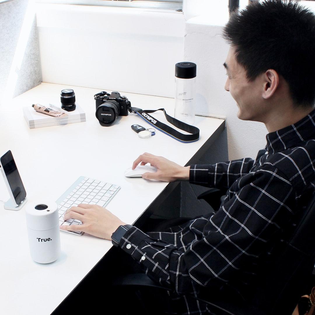 Designer desk.