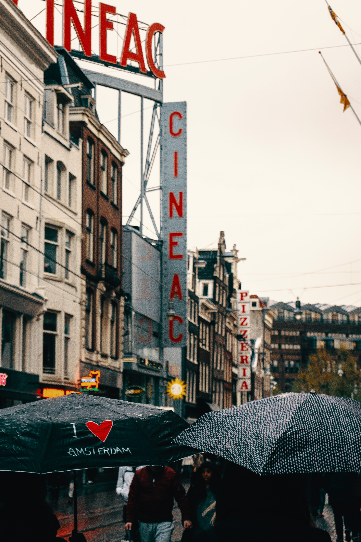Cineac signage beside grey concrete building