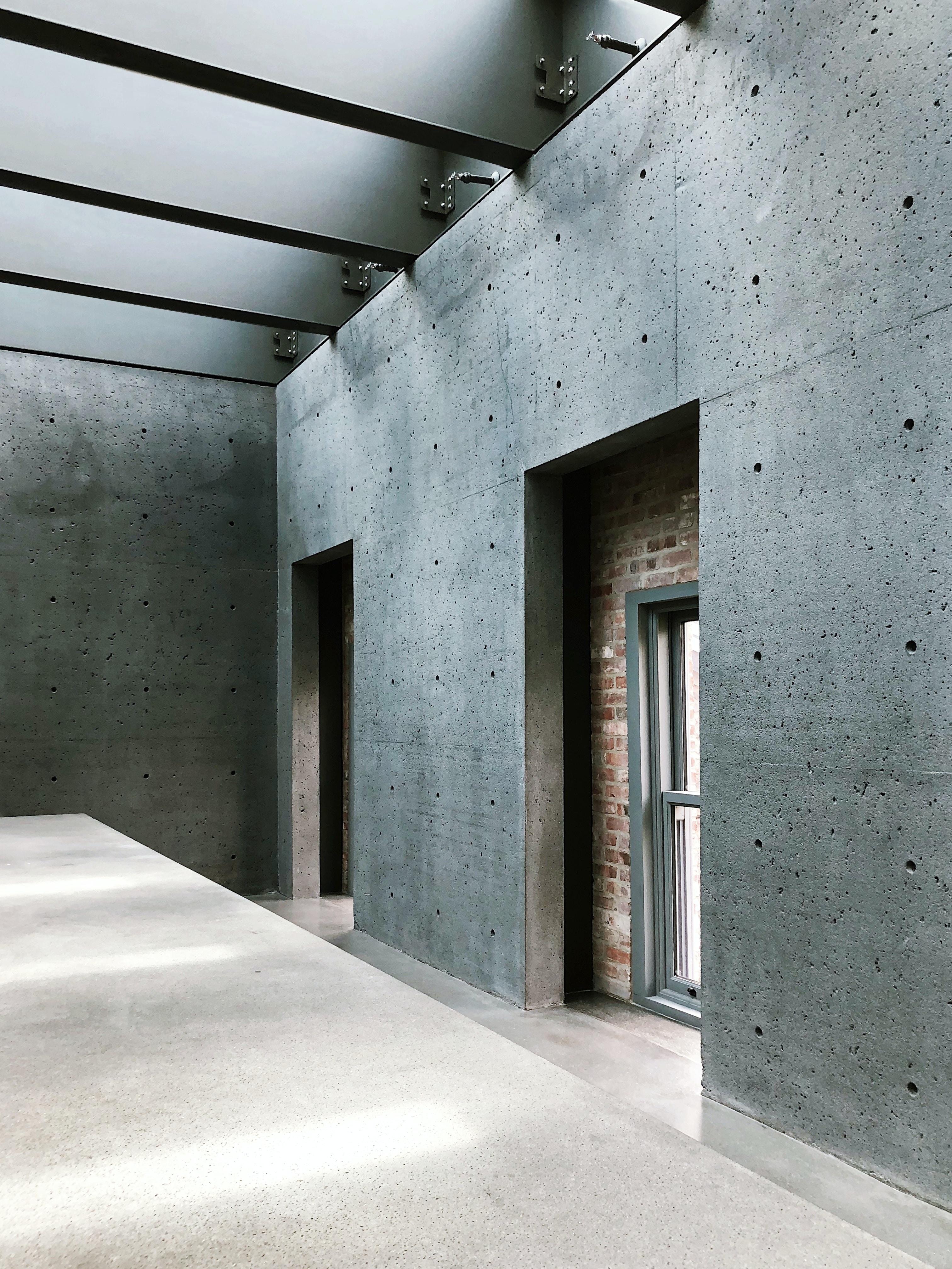 closed gray windowpane