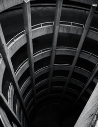 gray concrete columns
