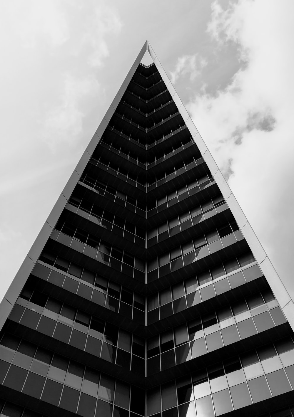 grayscale high-rise building