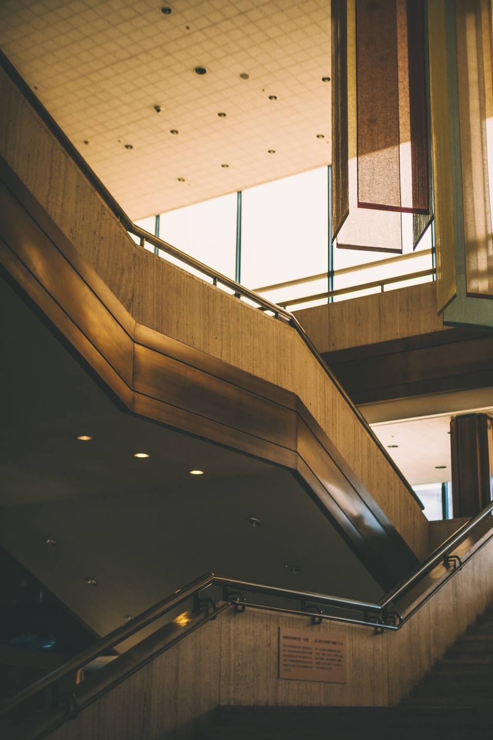 brown stairs interior