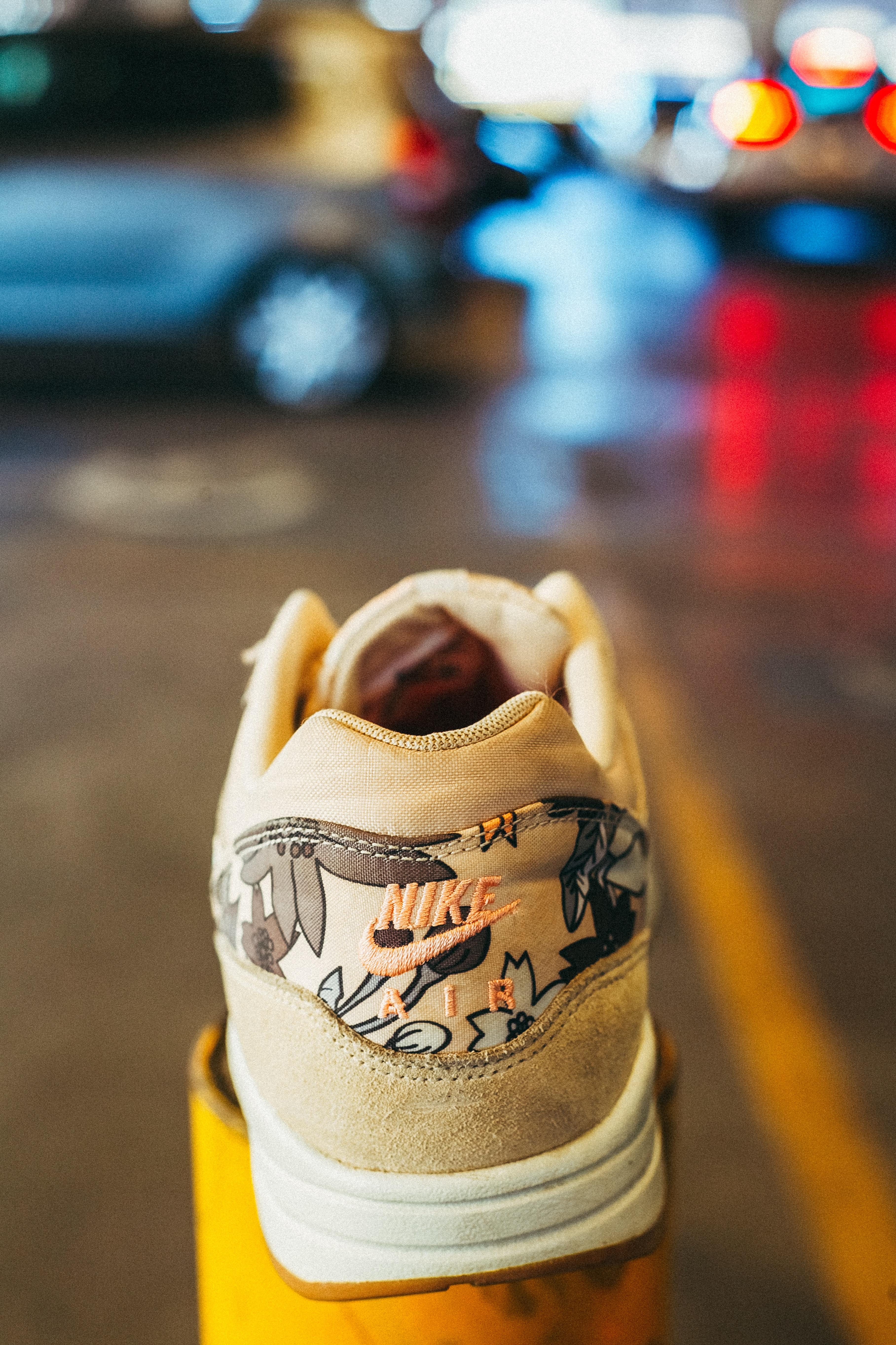beige Nike Air Force 1 low shoe