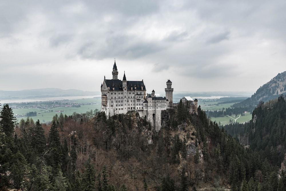 grey concrete castle