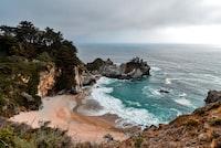 sea near rock formation