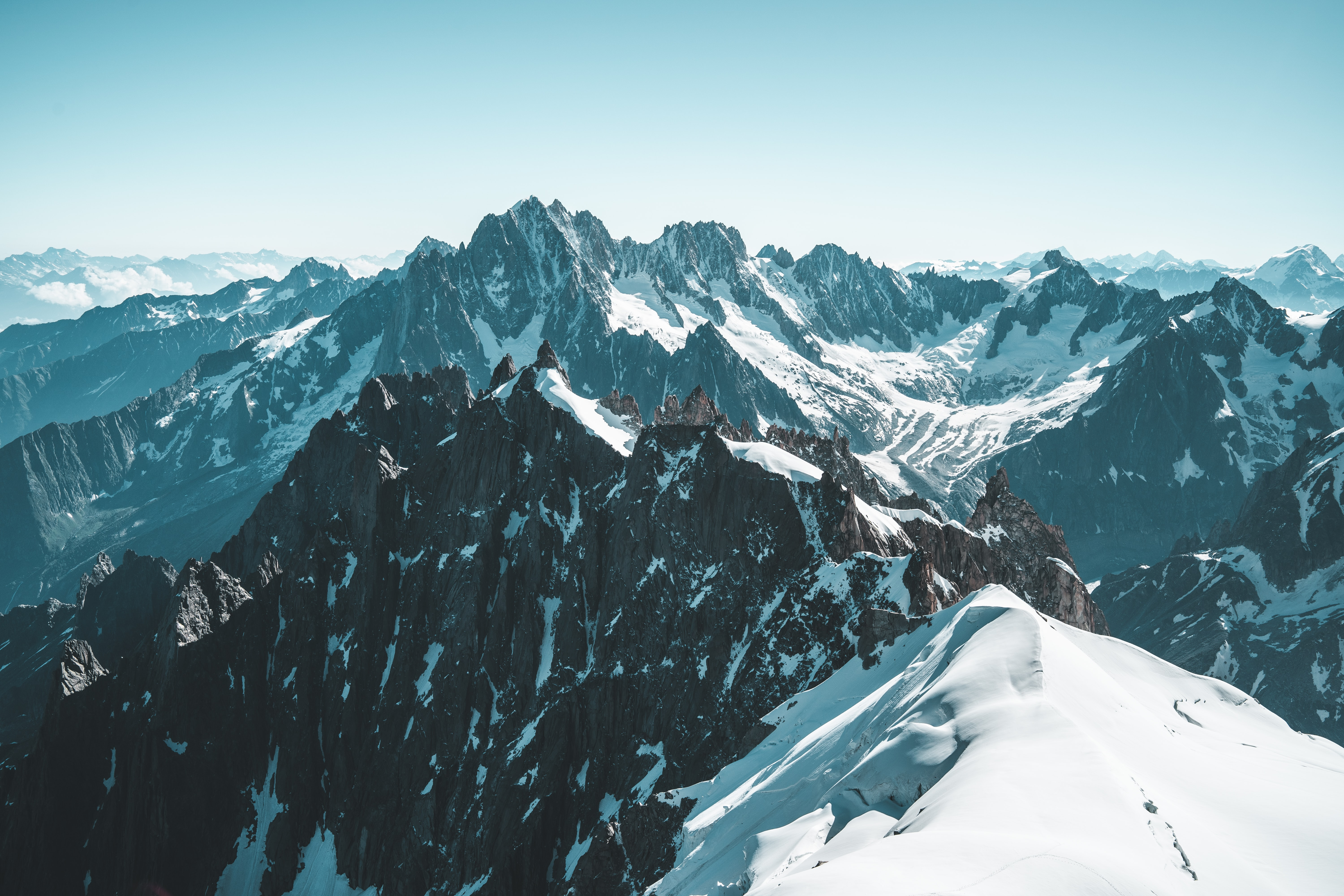 bird's-eye view photography of mountain range
