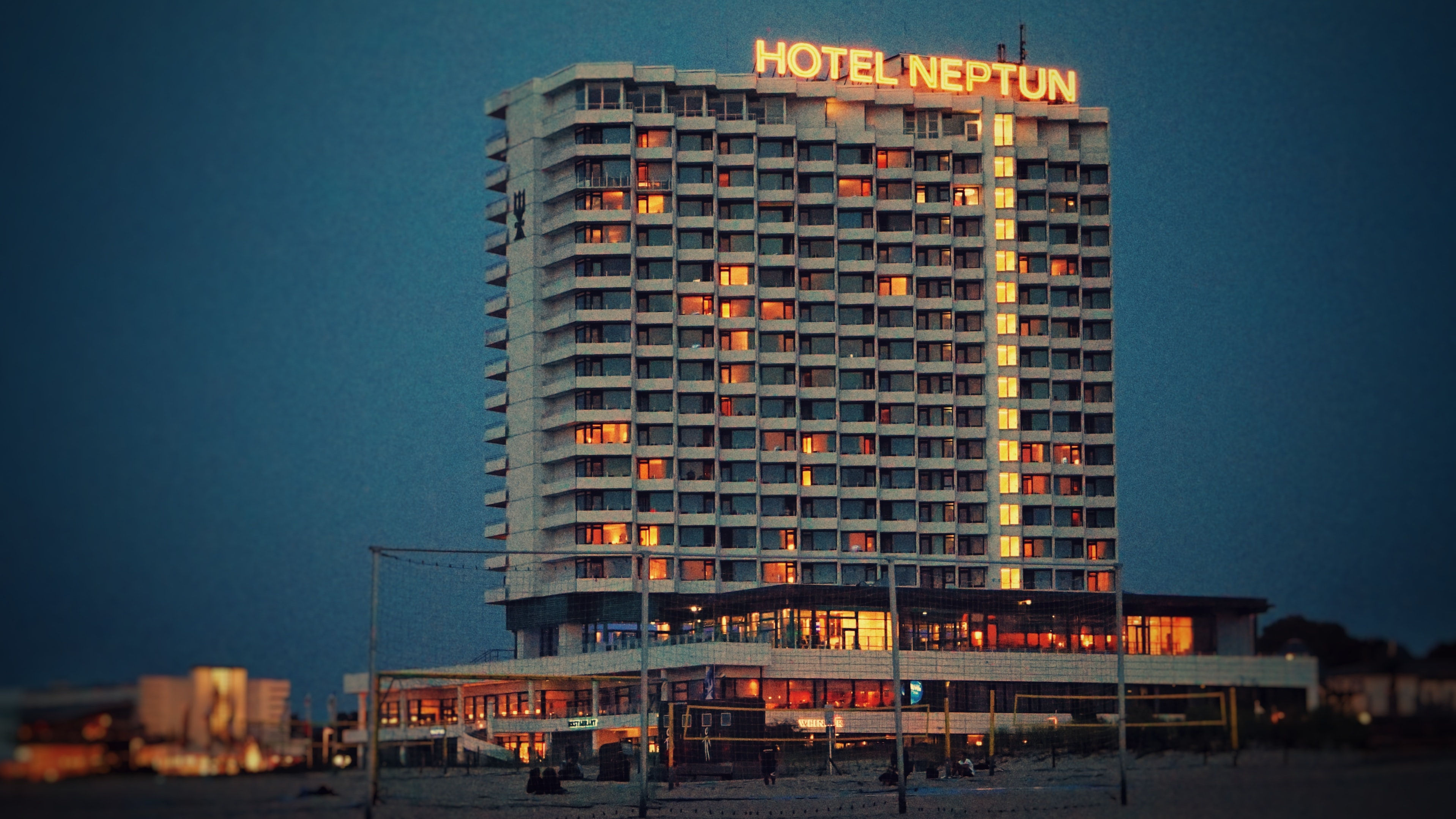 Hotel Neptun building under blue sky