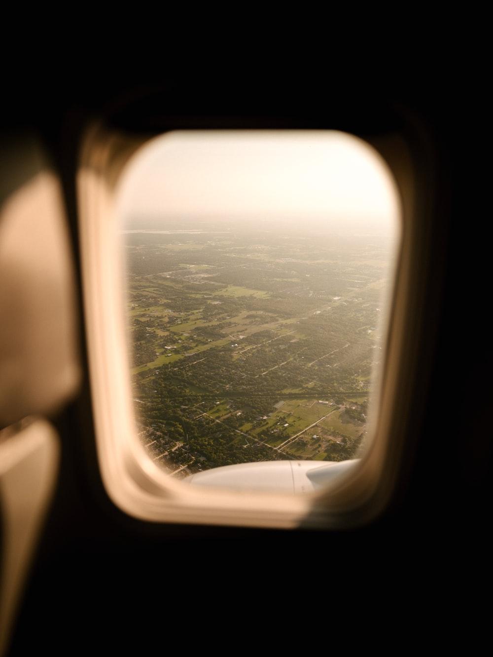 rectangular airplane window