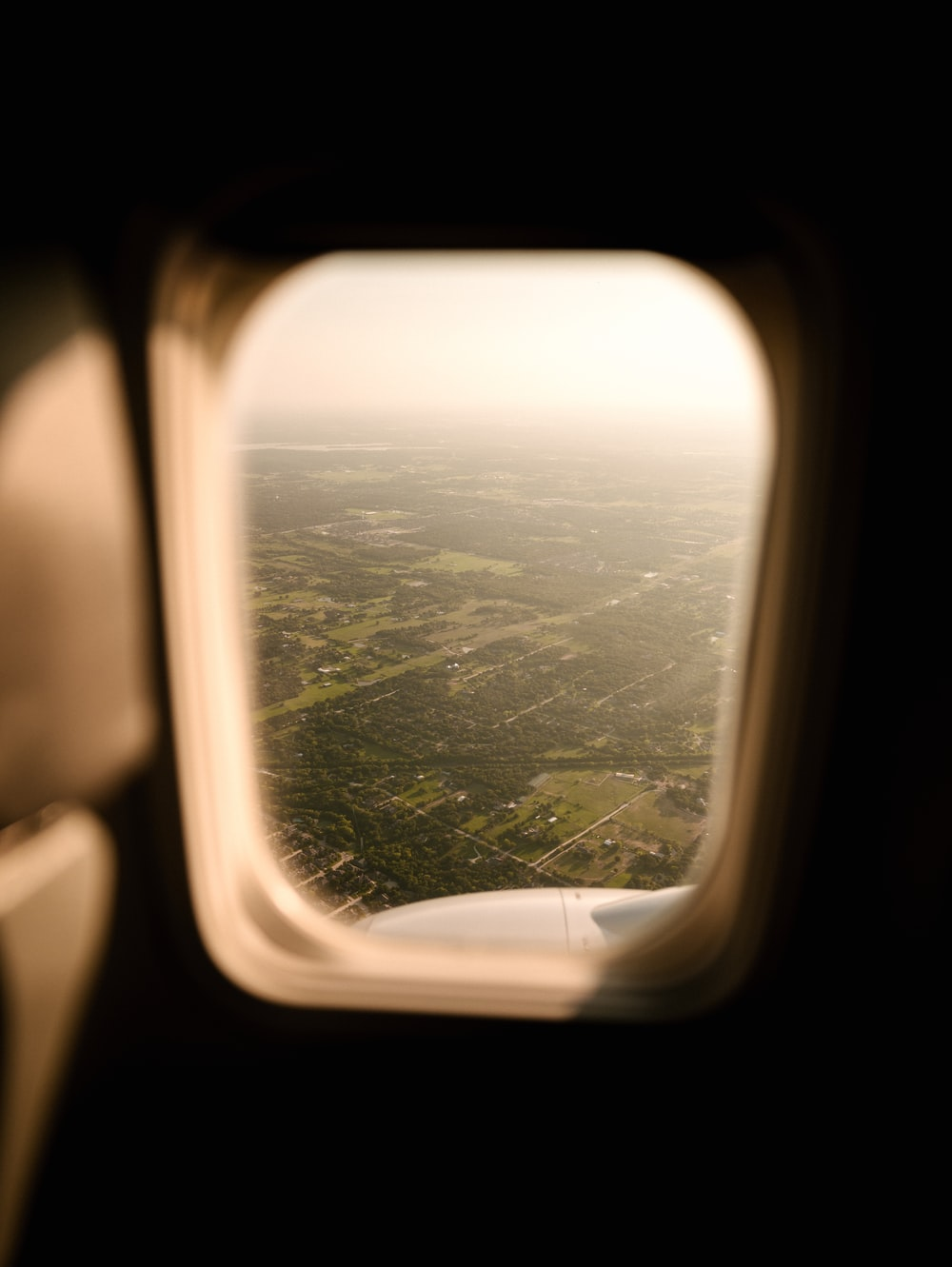 rectangular airplane window