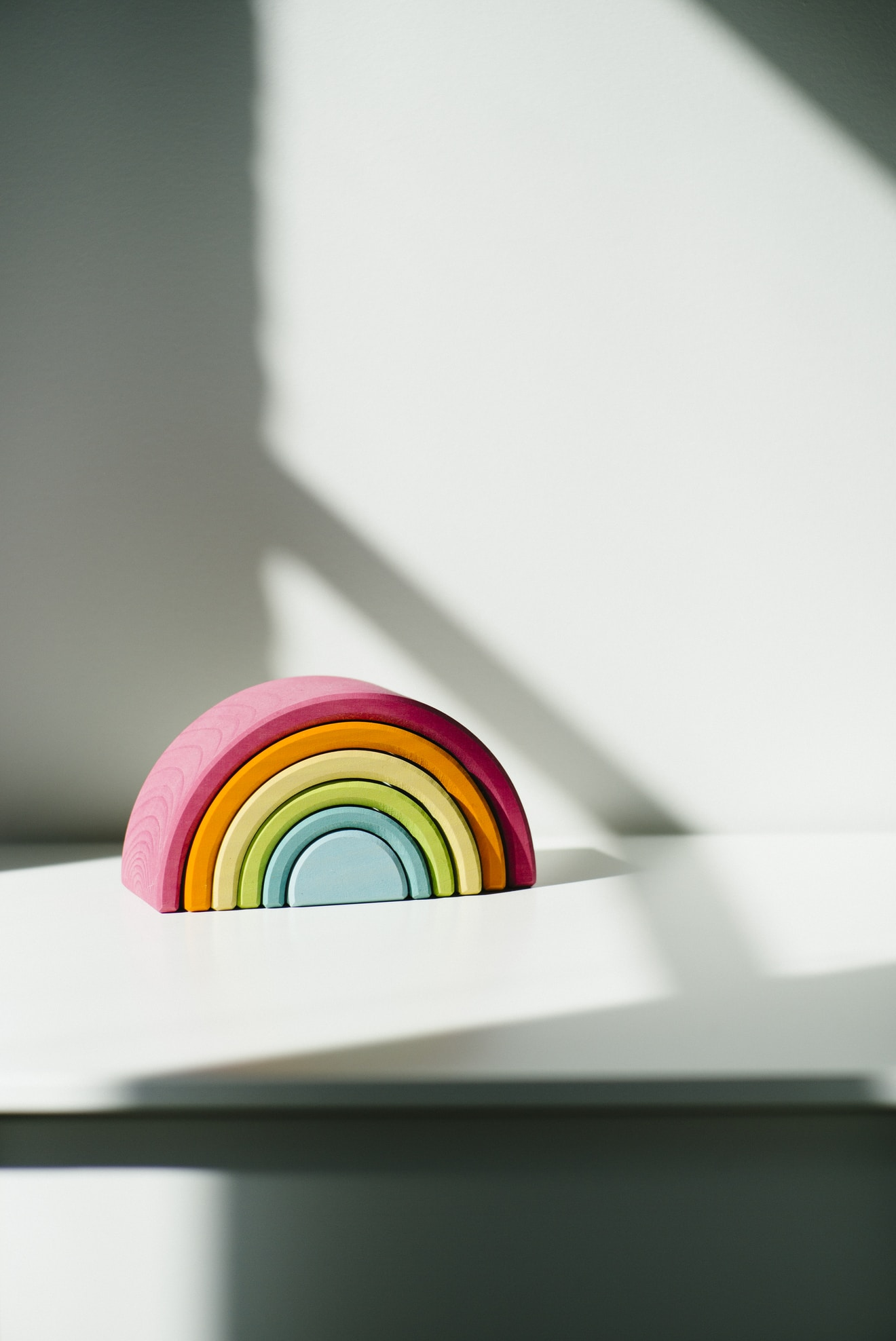 rainbow clay toy