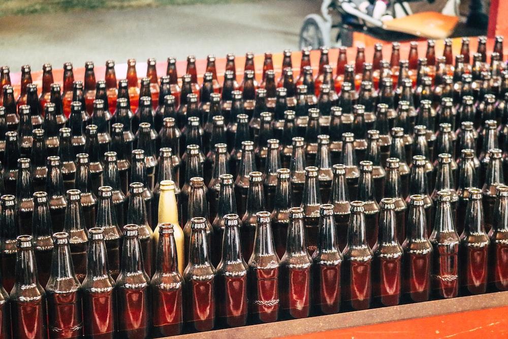 assorted label bottle lot