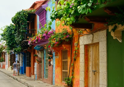 multicolored houses colombia zoom background