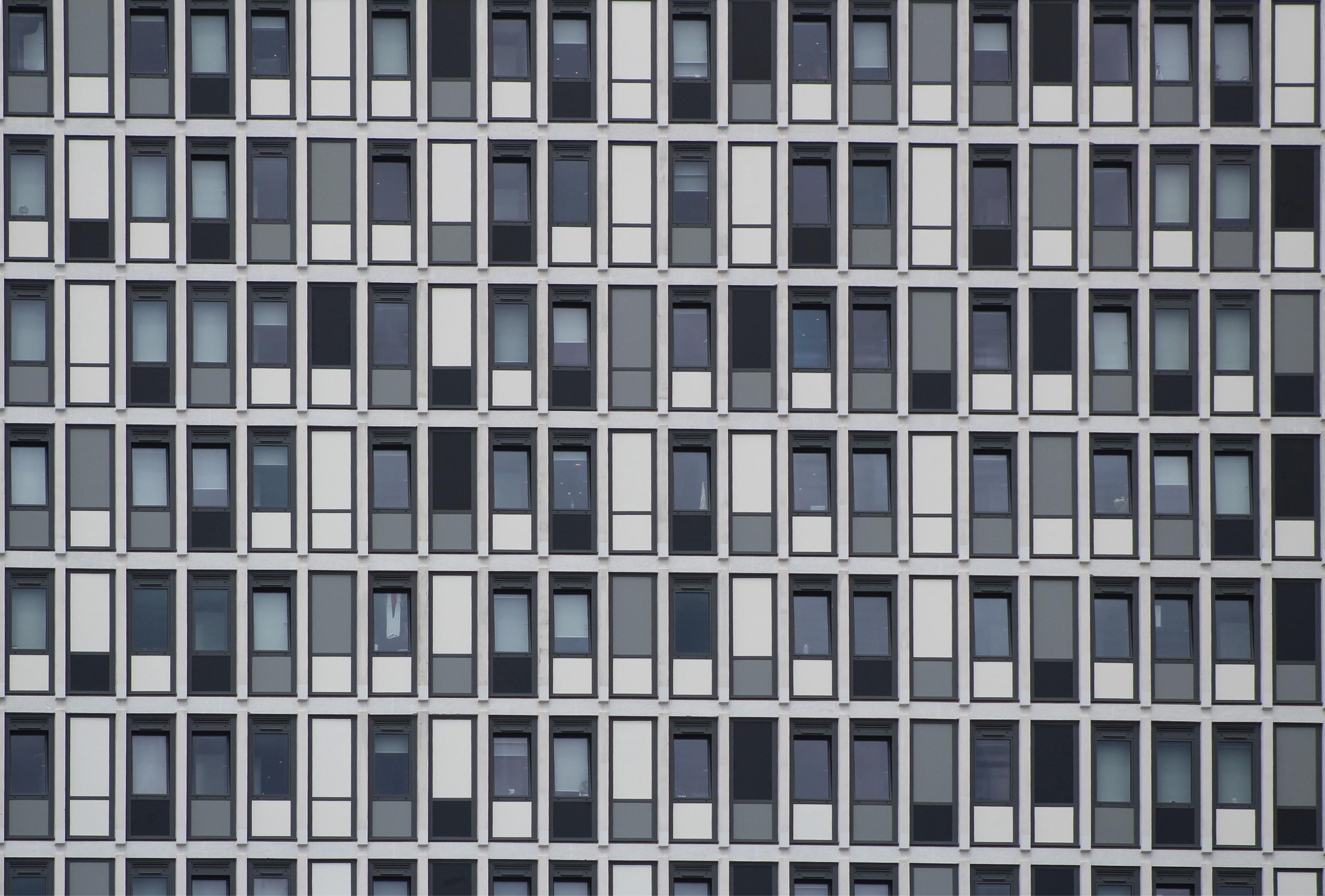 white and gray doors