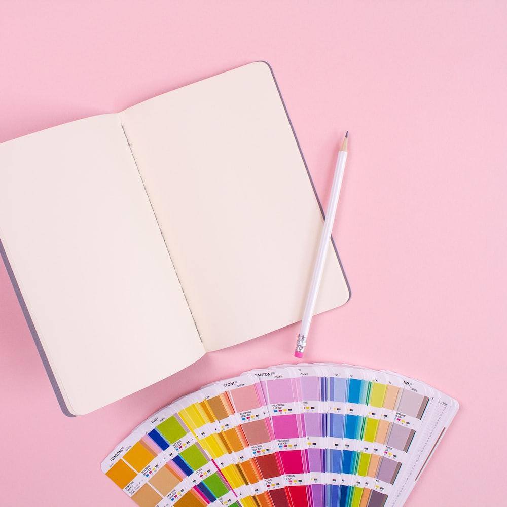 white notebook