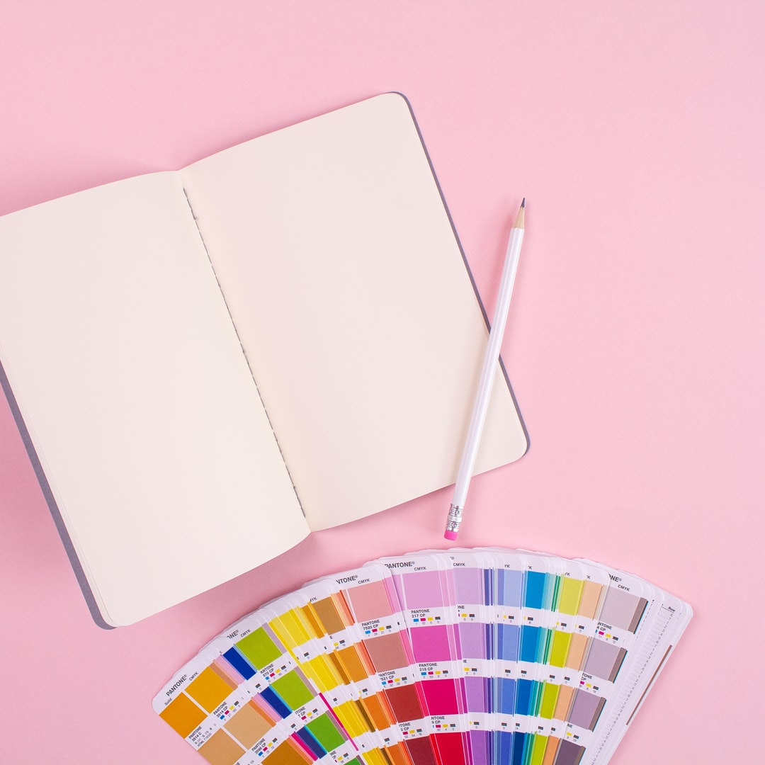 White page with color chart for your ideas!