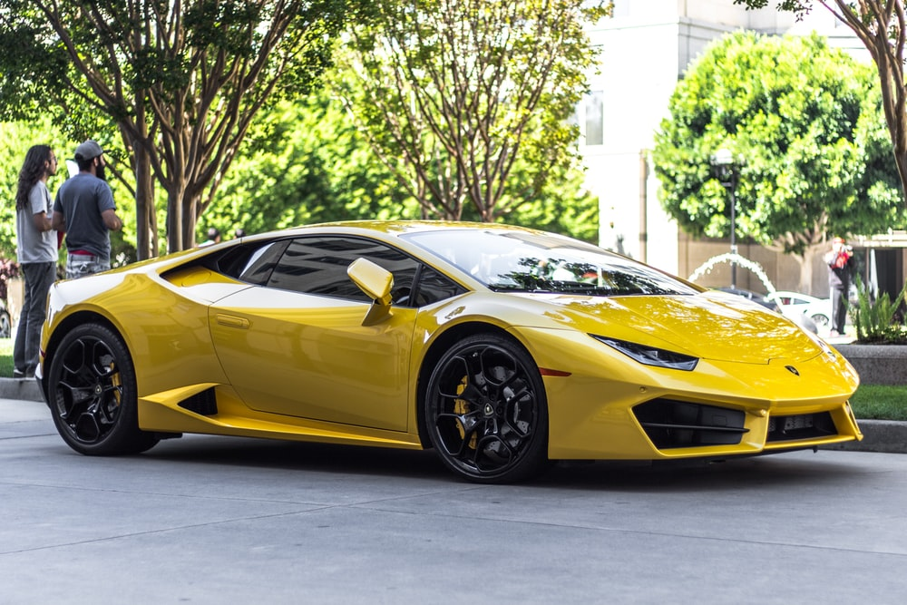 yellow Lamborghini