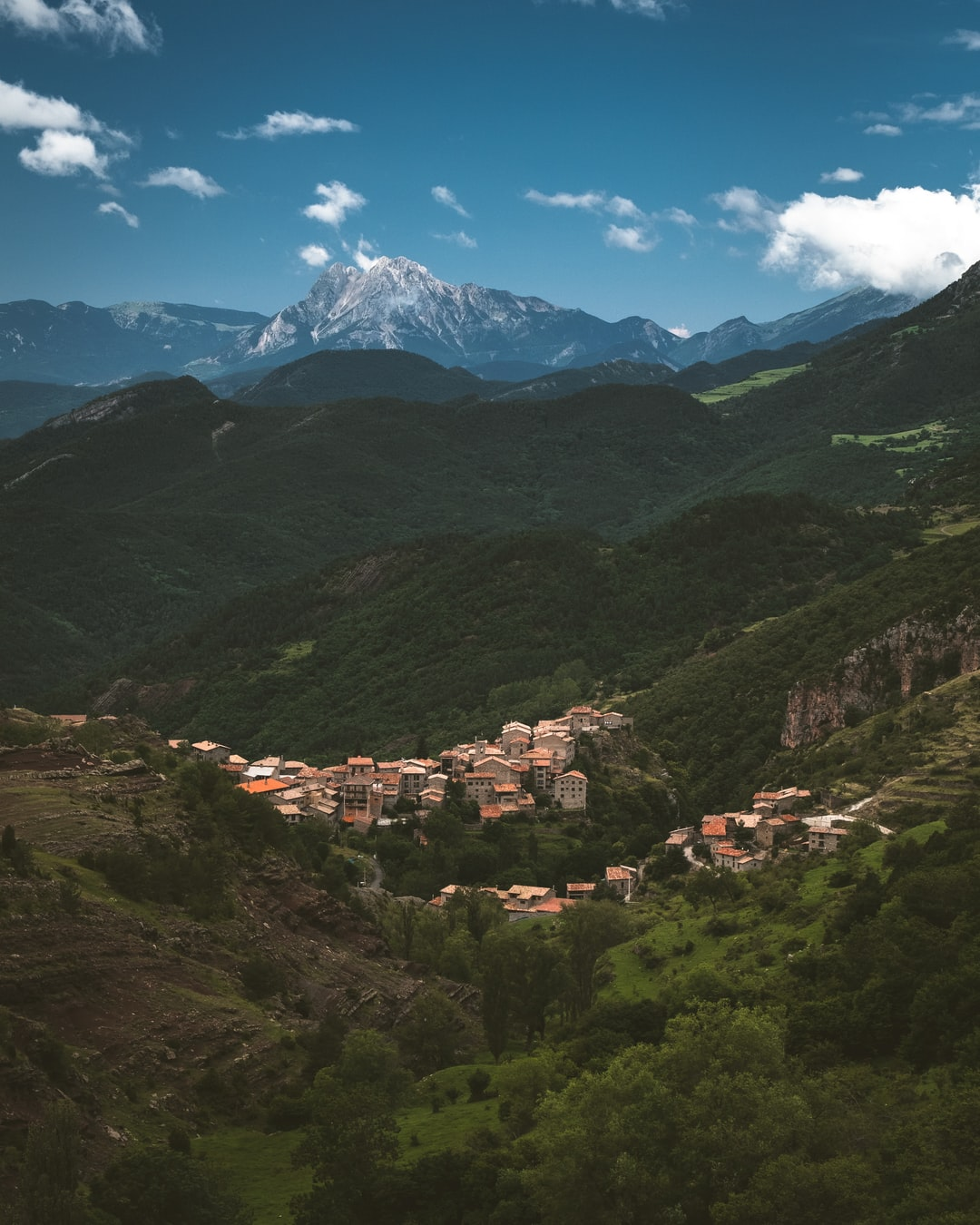 For the month of July I spent a month living with a buddy traveling on offroad routes through Spain and the Alps.  We happened across this incredible town nestled down in the Pyrenees mountain range.