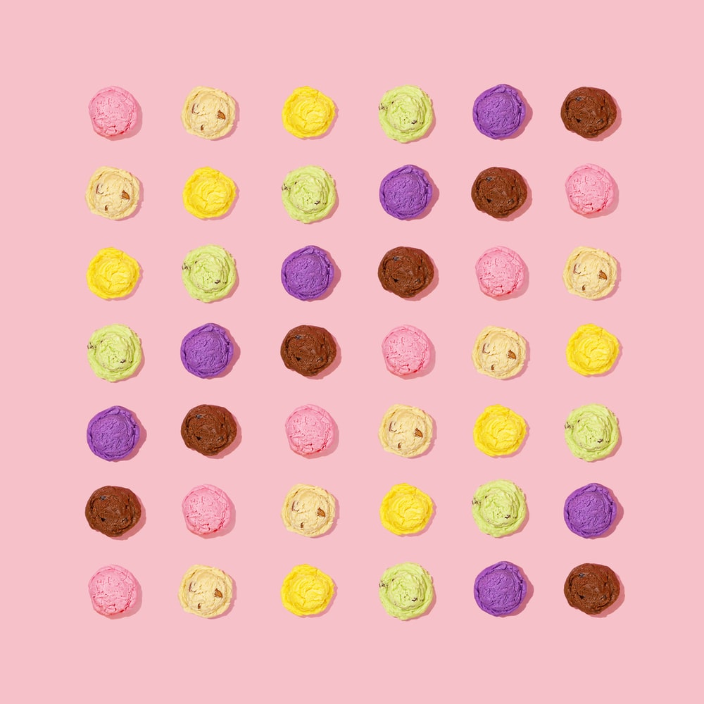 assorted-color fluffy slimes