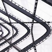 low angle photography metal building frame
