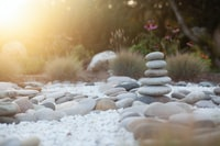 selective focus photo of balance stones
