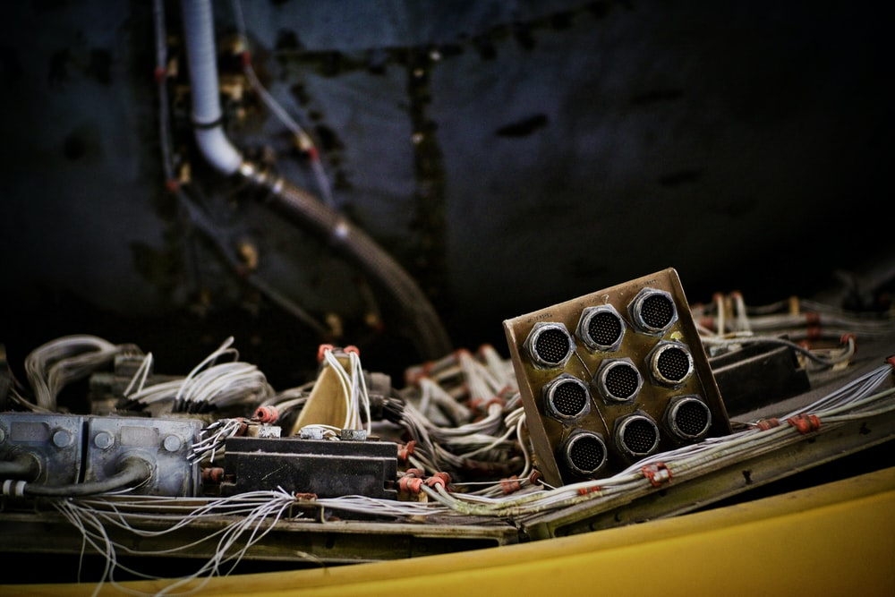 wiring piled on top of table close-up photography