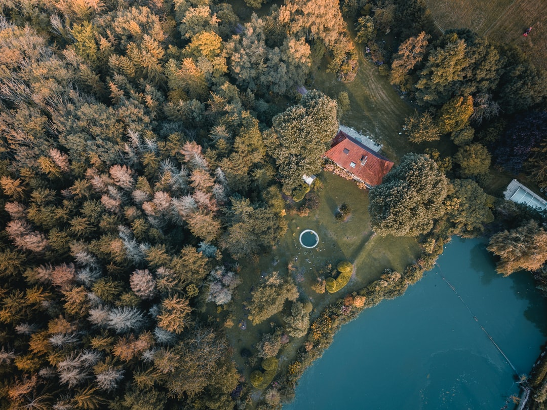 Decided to fly my drone near a river when I saw far away a lake. When I came closer, I saw this house with its garden, between the forest at the left and the lake at the right. Quiet place.