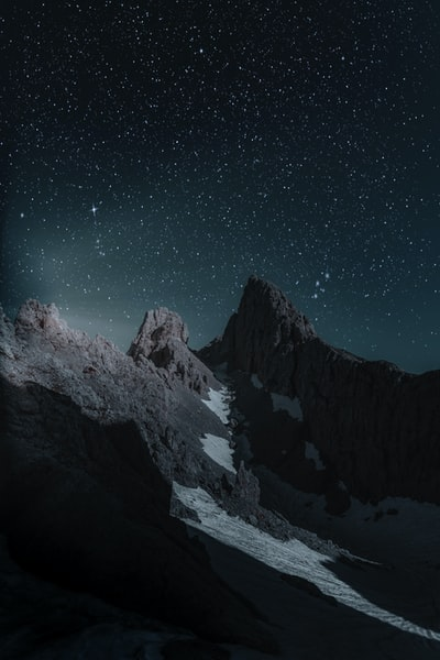 brown mountain at nighttime