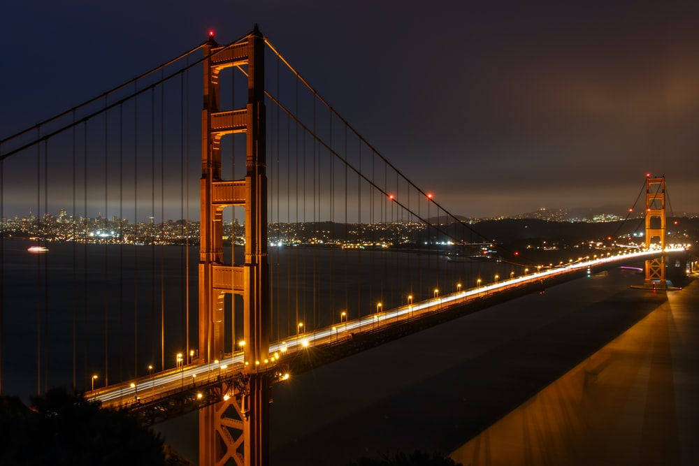 architectural photography of San Francisco bridge