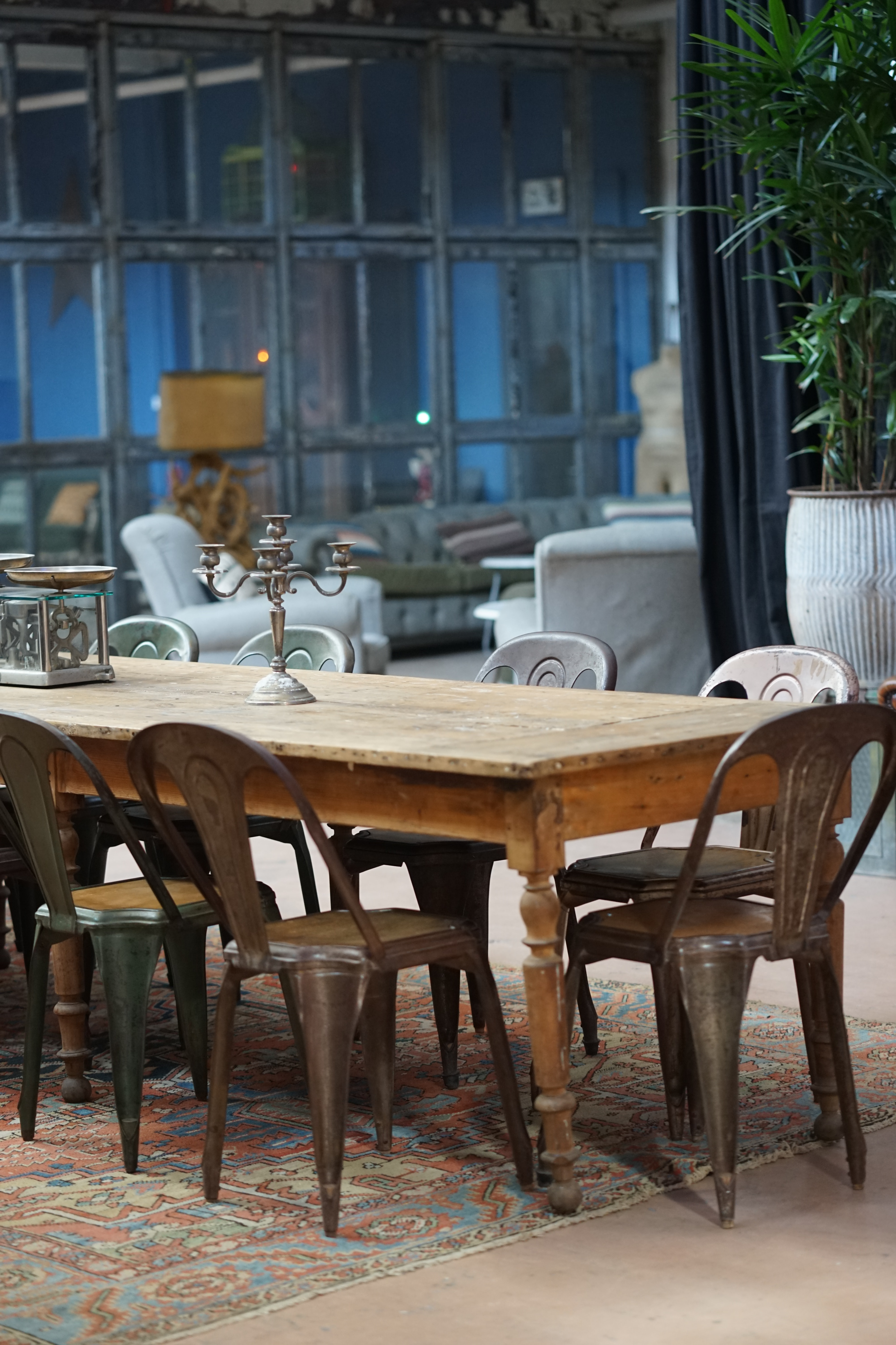 rectangular brown wooden table and chairs dining set