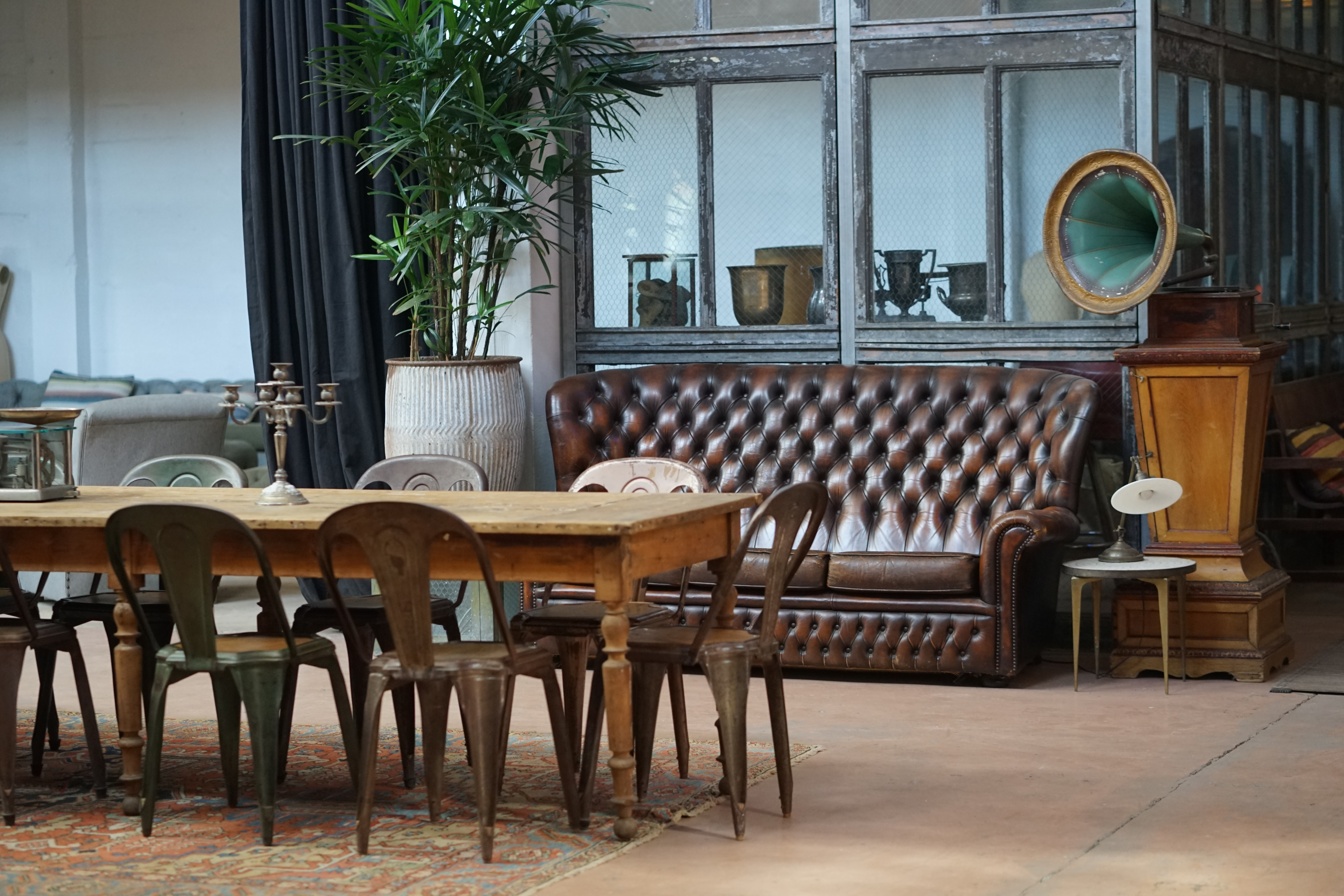 chesterfield sofa and dining set