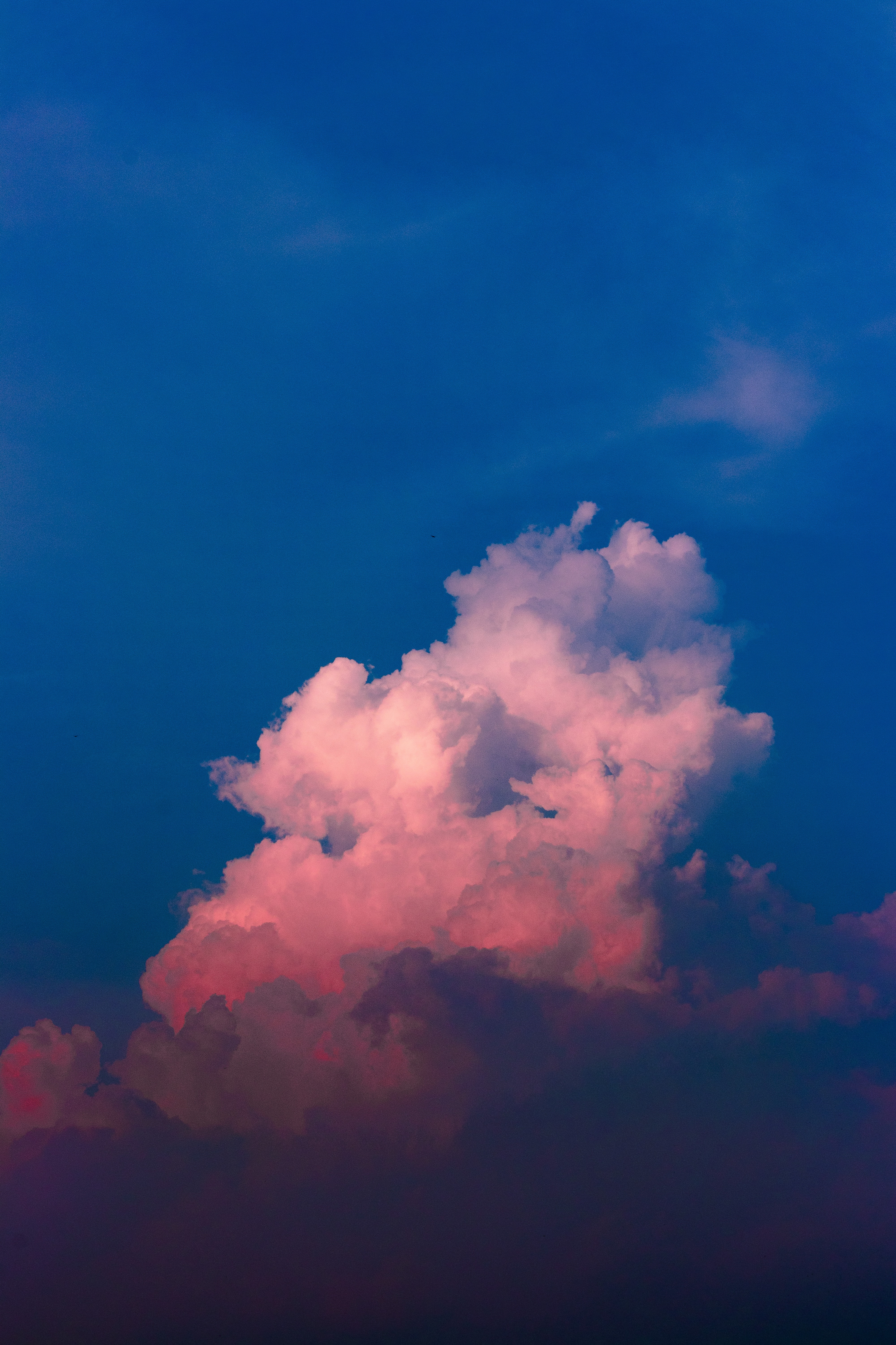 selective photo of white and blue sky