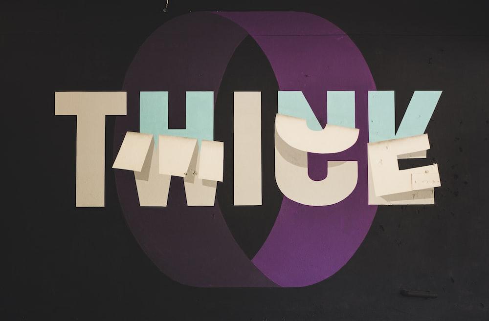 Think Twice graphic art
