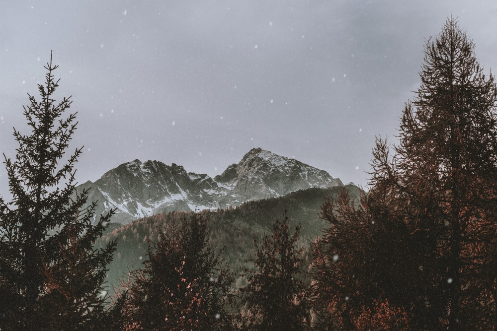 landscape photography of snowy mountain