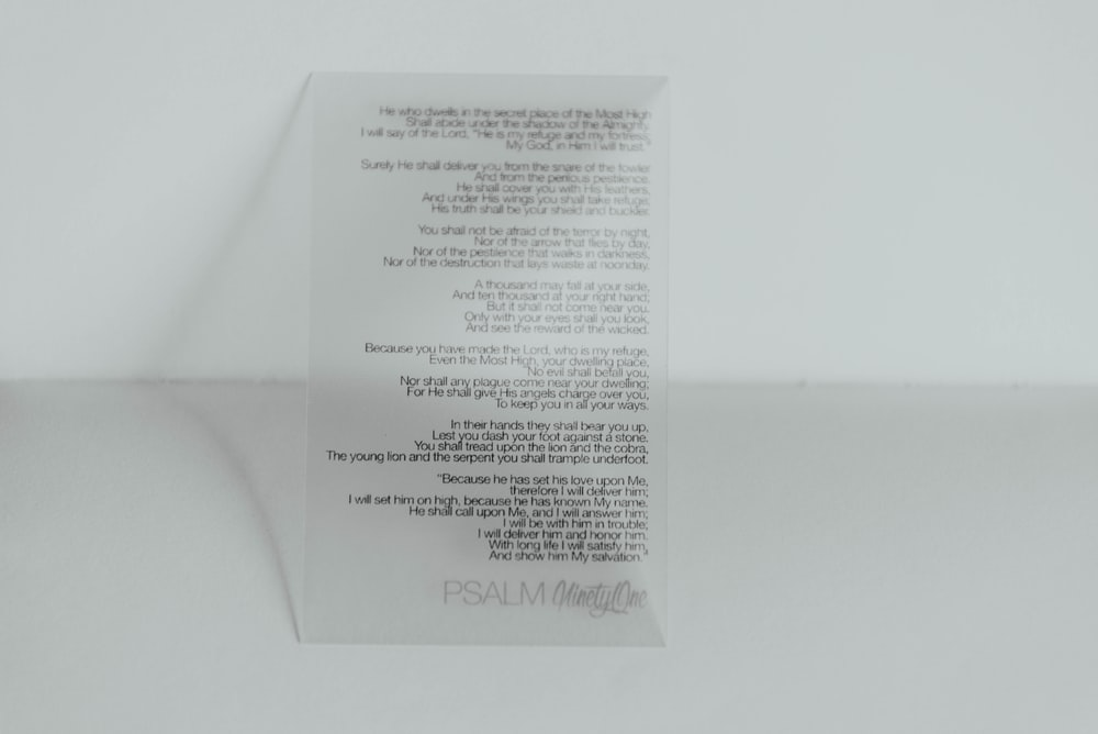 white printing paper on white top